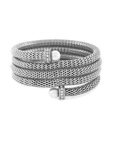 BCBGENERATIONFaux Pearl Coil Cuff Bracelet