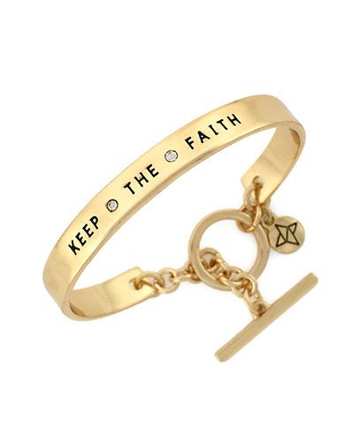 BCBGENERATIONGoldtone Faith Crystal Bangle Bracelet
