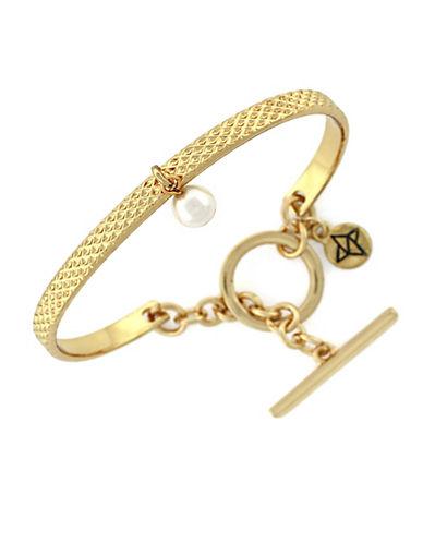 BCBGENERATIONFaux Pearl Toggle Bracelet