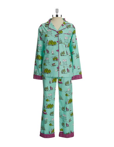 Munki Munki Flannel Christmas Tree Pajamas