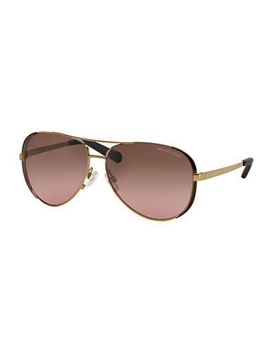 michael kors female 245492 chelsea aviator 59mm sunglasses