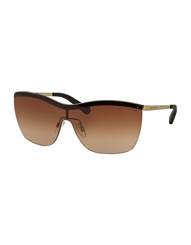 michael kors female 211468 paphos shield 39mm sunglasses