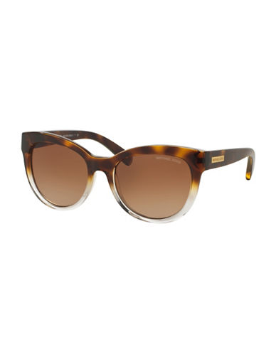 michael kors female 211468 53mm tortoise shell catseye sunglasses