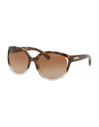 michael kors female 211468 60mm tortoise shell sunglasses