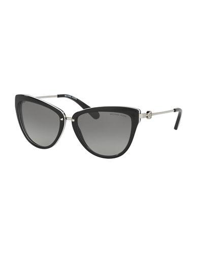 michael kors female 56mm abela ii gradient cateye sunglasses