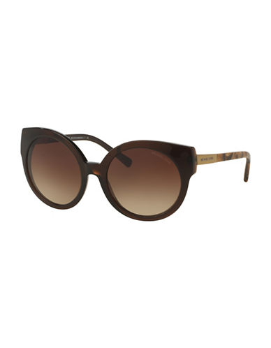 michael kors female 211468 55mm adelaide i gradient cateye sunglasses