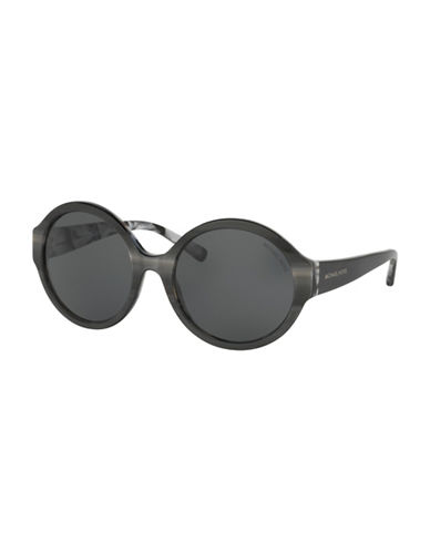 michael kors female 55mm seaside getaway round sunglasses