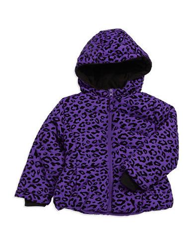 ROTHSCHILDBaby Girls Leopard Print Puffer Coat