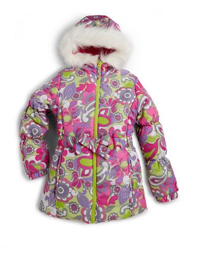 ROTHSCHILDGirls 2-6x Faux Fur Trim Hooded Coat