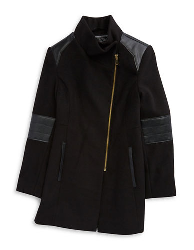 ROTHSCHILDGirls 7-16 Asymmetrical Faux Leather Trim Jacket