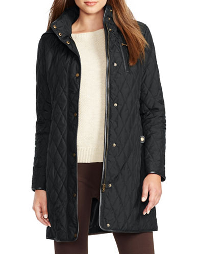 ralph lauren female 188971 quilted jacket with hood