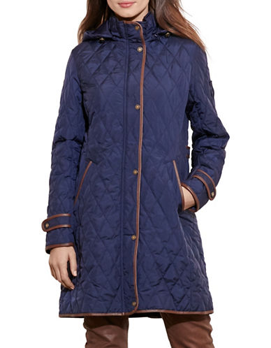 ralph lauren female 236621 quilted jacket with hood