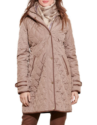 ralph lauren female 211468 quilted jacket with hood