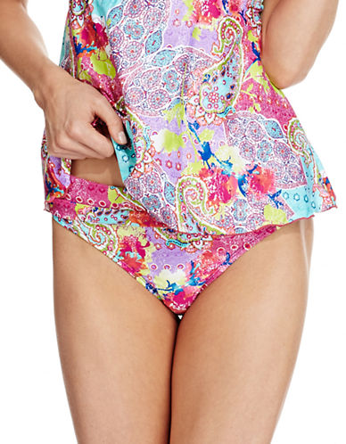 KENNETH COLE REACTIONModern Gypsy Sash Swim Hipsters