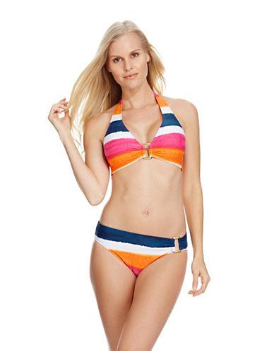 LAUREN RALPH LAURENPainted Stripe Swim Halter Top