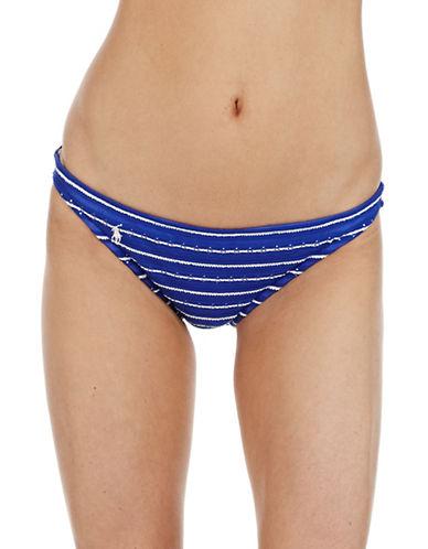 POLO RALPH LAURENEyelet Striped Hipster Swim Bottom
