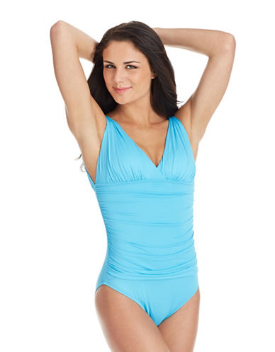 Shop La Blanca online and buy La Blanca Incentive V Neck Swimsuit dress online