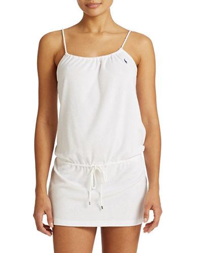 Shop Polo Ralph Lauren online and buy Polo Ralph Lauren Rope Tie Terry Dress dress online