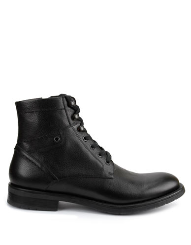 GBXBrick Leather Ankle Boots