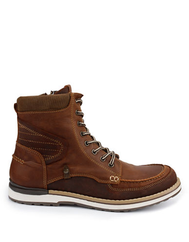 GBX Fulton Leather Moc Toe Ankle Boots