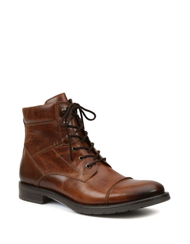 GBX Brisk Leather Cap Toe Lace-Up Boots