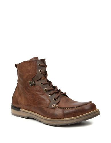 GBX Draft Leather Lace-Up Boots