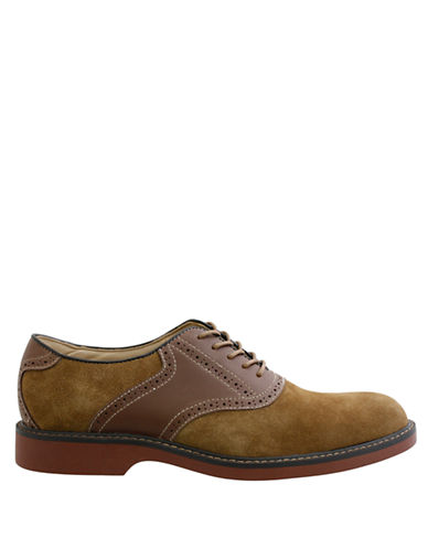BASSPomona Suede and Leather Saddle Shoes
