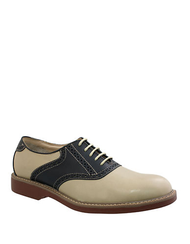 BASS Pomona Suede and Leather Saddle Shoes