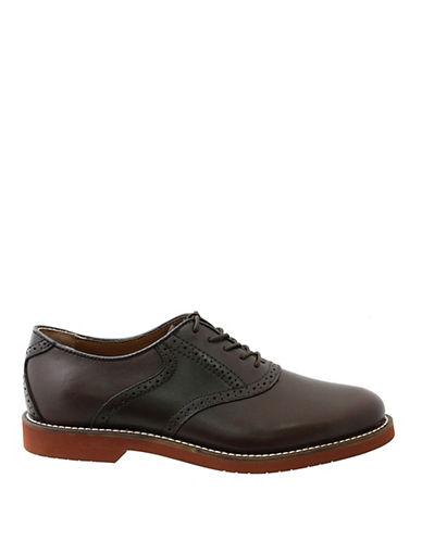 BASSBurlington Leather Two-Tone Oxfords