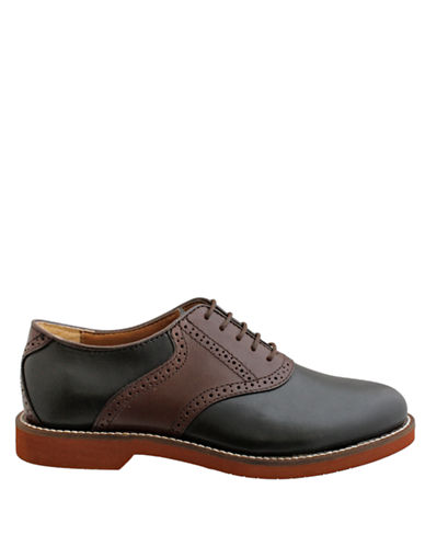 BASS Burlington Leather Two-Tone Oxfords