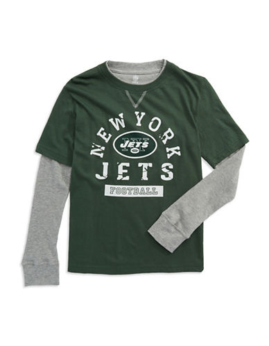 REEBOKBoys 8-20 New York Jets Faux Layered T Shirt