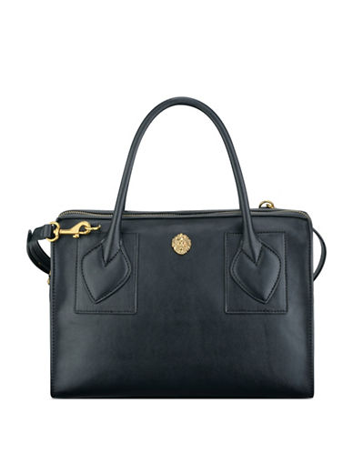 anne klein female bey medium faux leather satchel