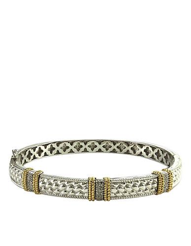LORD & TAYLORSterling Silver and 14 Kt. Gold Diamond Pave Bracelet