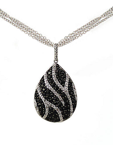 LORD & TAYLORBlack Sapphire and Diamond Necklace in Sterling Silver
