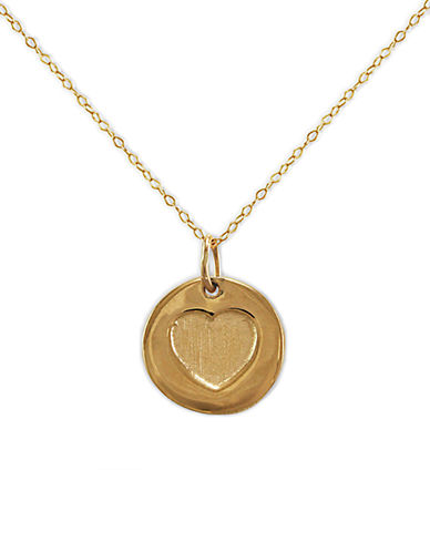 LORD & TAYLOR14 Kt. Gold Cut Out Heart Pendant Necklace