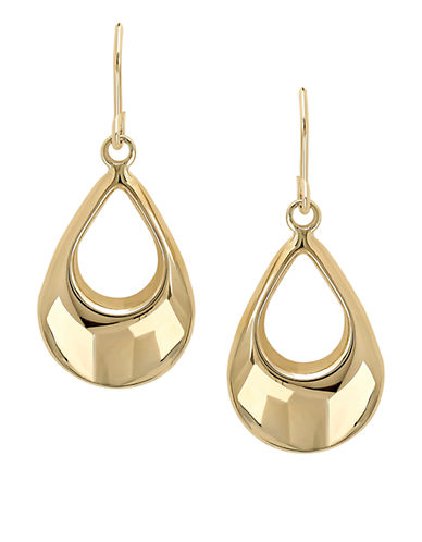 LORD & TAYLOR14 Kt. Yellow Gold Drop Earrings