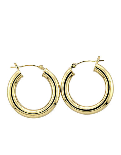 LORD & TAYLOR14 Kt. Yellow Gold Polished Tubular Hoop Earrings