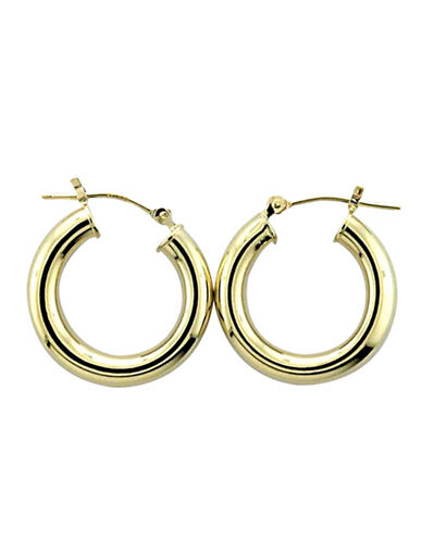 LORD & TAYLOR14 Kt. Yellow Gold Polished Hoop Earrings