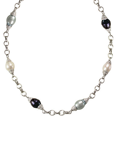 LORD & TAYLOR Sterling Silver and Multi Pearl Necklace