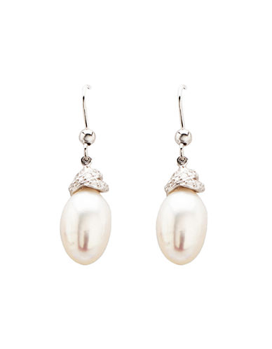 LORD & TAYLOR Sterling Silver Freshwater Pearl Drop Earrings