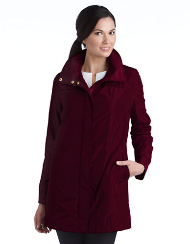 Ellen Tracy Plus Plus Zip Front Packable Jacket