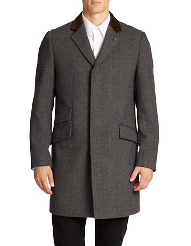VINCE CAMUTO Chesterfield Wool Coat