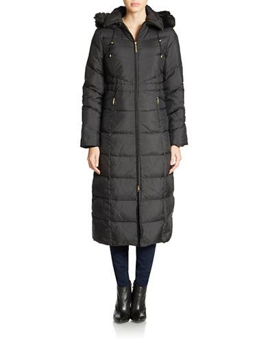 ELLEN TRACYFaux Fur-Trimmed Puffer Coat