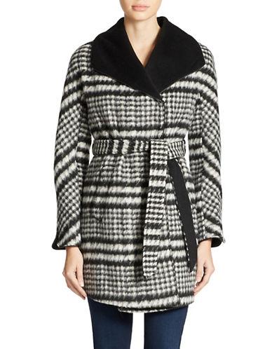 ELLEN TRACYCropped Wrap Coat