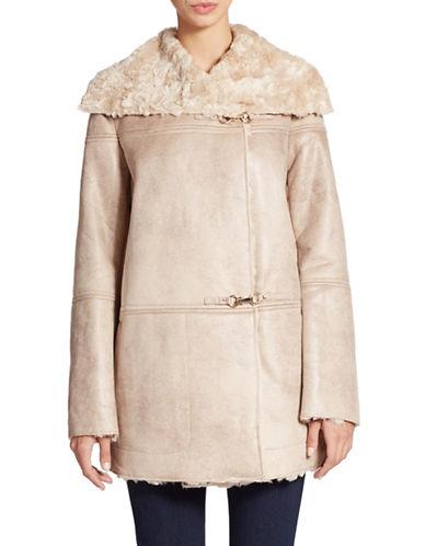 ELLEN TRACYFaux Sheepskin Coat