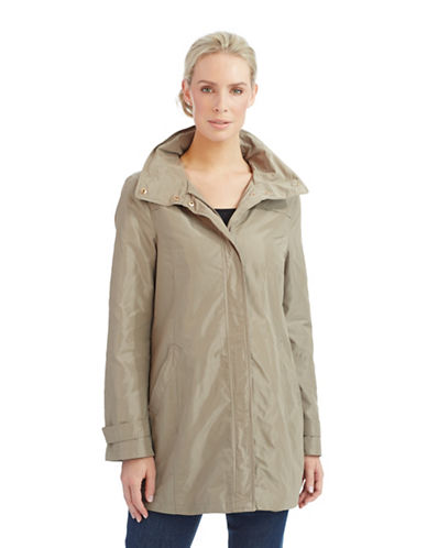 ELLEN TRACY Petite Packable Rain Jacket
