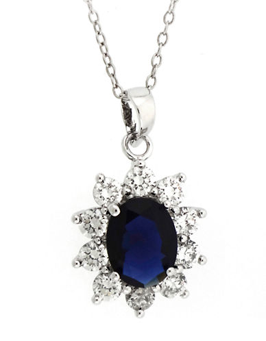LORD & TAYLORSterling Silver and Cubic Zirconia Flower Pendant Necklace