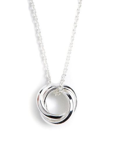 LORD & TAYLOR Sterling Silver Three-Circle Pendant Necklace