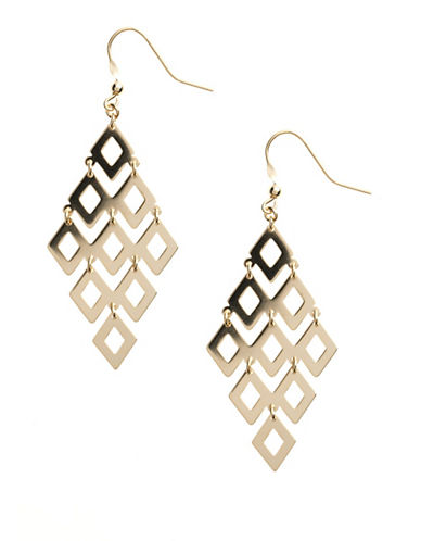 LORD & TAYLOR14 Kt Gold Over Sterling Silver Chandelier Earrings