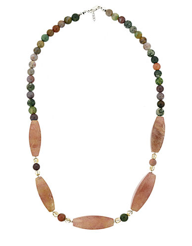 LORD & TAYLOR Multi-Earth Tone Mixed Bead Necklace